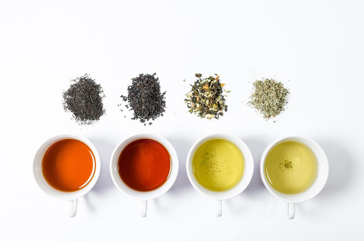 Proprietà e colori del tè